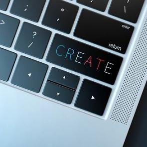 Photo of laptop keyboard
